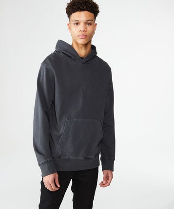 KSUBI Hoodies Pullovers Street Style Long Sleeves Plain Cotton Hoodies 2