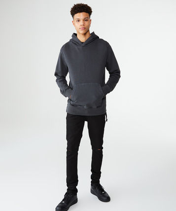 KSUBI Hoodies Pullovers Street Style Long Sleeves Plain Cotton Hoodies 3