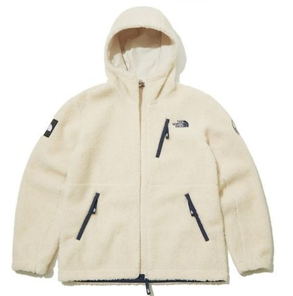 THE NORTH FACE RIMO Casual Style Unisex Street Style Plain Shearling Logo