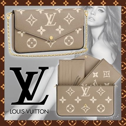 Louis Vuitton MONOGRAM Monogram Casual Style 2WAY Chain Leather Party Style