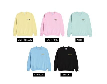 acme de la vie Unisex Street Style Long Sleeves Cotton Sweatshirts