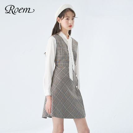 Formal Style  Other Plaid Patterns Short Casual Style A-line
