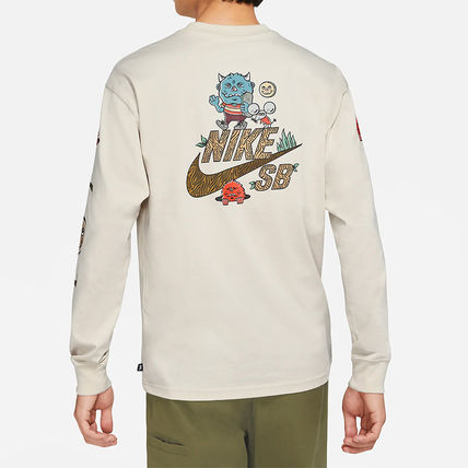 Nike Long Sleeve Street Style Long Sleeves Cotton Logos on the Sleeves 3