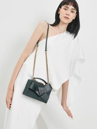 Charles&Keith 2WAY Chain Plain Party Style Elegant Style Crossbody