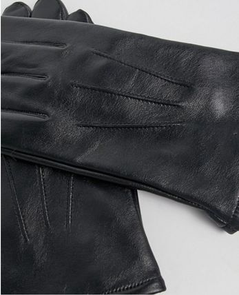 ASOS Street Style Plain Leather Leather & Faux Leather Gloves