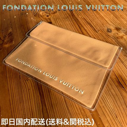 Casual Style Plain Crystal Clear Bags PVC Clothing
