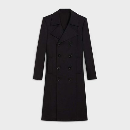 CELINE Wool Plain Peacoats Coats
