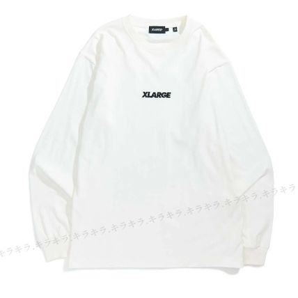 X-Large Long Sleeve Crew Neck Pullovers Street Style Long Sleeves Plain Cotton 4