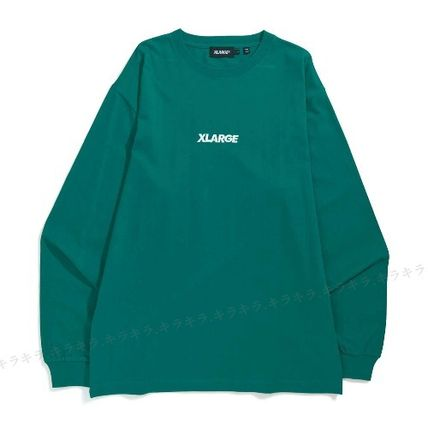 X-Large Long Sleeve Crew Neck Pullovers Street Style Long Sleeves Plain Cotton 6