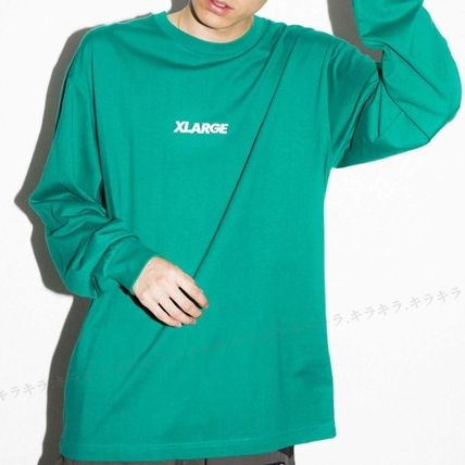 X-Large Long Sleeve Crew Neck Pullovers Street Style Long Sleeves Plain Cotton 7