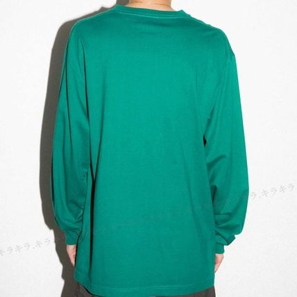 X-Large Long Sleeve Crew Neck Pullovers Street Style Long Sleeves Plain Cotton 8