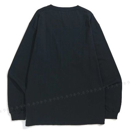 X-Large Long Sleeve Crew Neck Pullovers Street Style Long Sleeves Plain Cotton 11