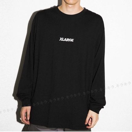X-Large Long Sleeve Crew Neck Pullovers Street Style Long Sleeves Plain Cotton 12