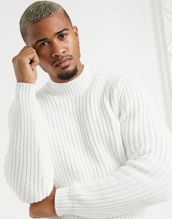 ASOS Pullovers Fine Gauge Street Style Long Sleeves Plain