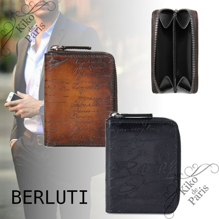 Berluti Leather Long Wallet  Coin Cases