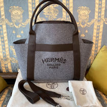 HERMES Garden Party Leather Totes