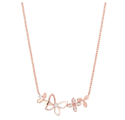 Chain Party Style With Jewels Office Style 14K Gold