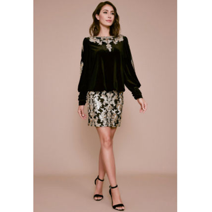Long Sleeves Medium Party Style With Jewels Elegant Style
