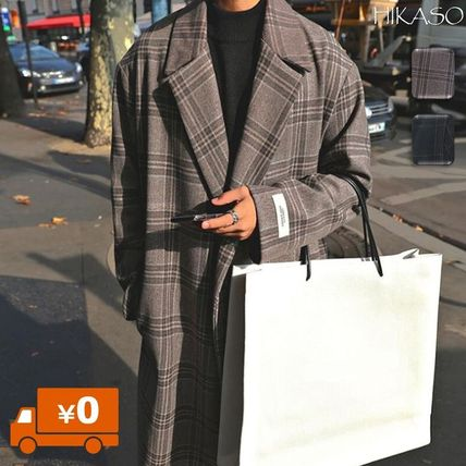 Other Plaid Patterns Street Style Long Oversized