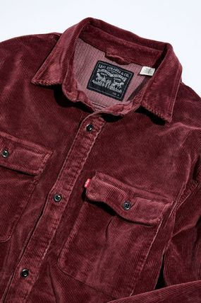 Levi's Button-down Long Sleeves Plain Street Style Shirts