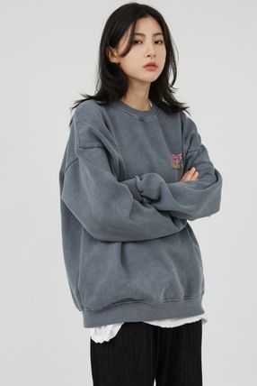 Raucohouse Long Sleeves Plain Cotton Sweatshirts