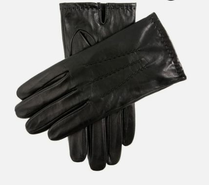 Street Style Plain Leather Leather & Faux Leather Gloves