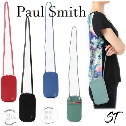 Paul Smith Street Style Plain Leather Logo Smart Phone Cases