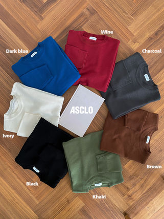 ASCLO Sweaters Unisex Long Sleeves Plain Oversized Sweaters 7