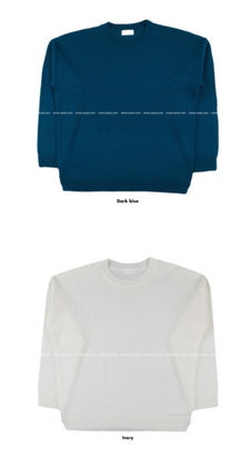 ASCLO Sweaters Unisex Long Sleeves Plain Oversized Sweaters 20