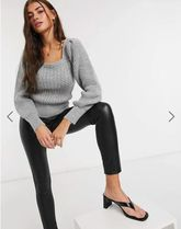 ASOS Cable Knit Casual Style Rib Street Style Long Sleeves Plain