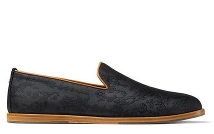 Jimmy Choo Leather Logo Loafers & Slip-ons