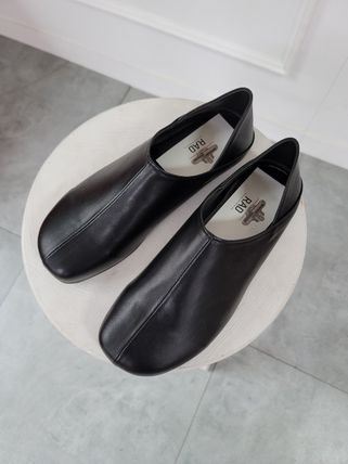 Plain Toe Loafers Faux Fur Plain Loafers & Slip-ons