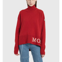 MONCLER Wool Cashmere Rib Long Sleeves Logo Cashmere