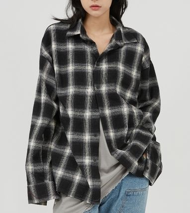 Raucohouse Shirts Glen Patterns Other Plaid Patterns Unisex Street Style 2