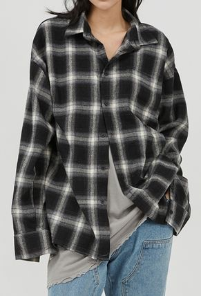 Raucohouse Shirts Glen Patterns Other Plaid Patterns Unisex Street Style 3