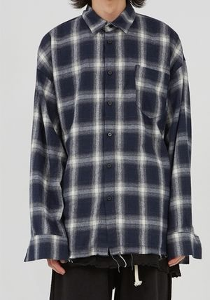 Raucohouse Shirts Glen Patterns Other Plaid Patterns Unisex Street Style 8