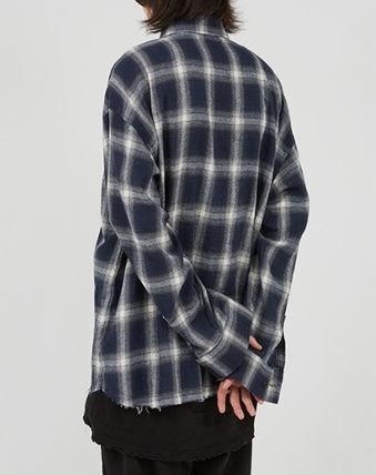 Raucohouse Shirts Glen Patterns Other Plaid Patterns Unisex Street Style 10