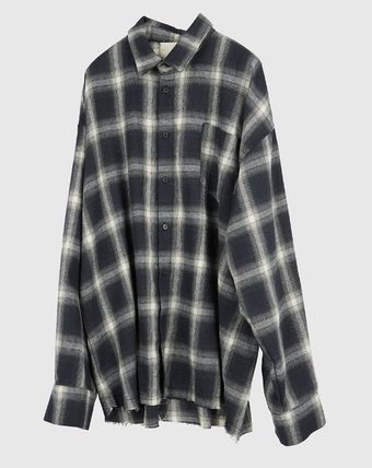Raucohouse Shirts Glen Patterns Other Plaid Patterns Unisex Street Style 17