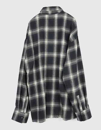 Raucohouse Shirts Glen Patterns Other Plaid Patterns Unisex Street Style 18