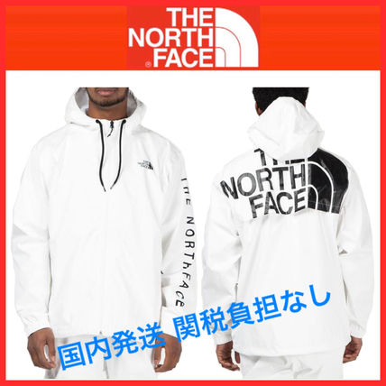 THE NORTH FACE Nylon Plain Windbreaker Coach Jackets Raincoat Logo