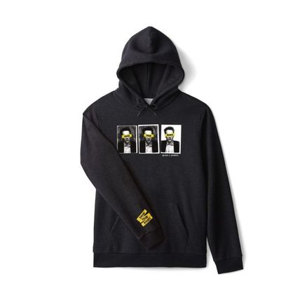 Pullovers Unisex Sweat Blended Fabrics Collaboration