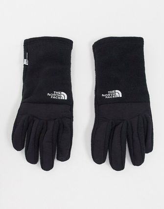 THE NORTH FACE Unisex Street Style Plain Logo Touchscreen Gloves
