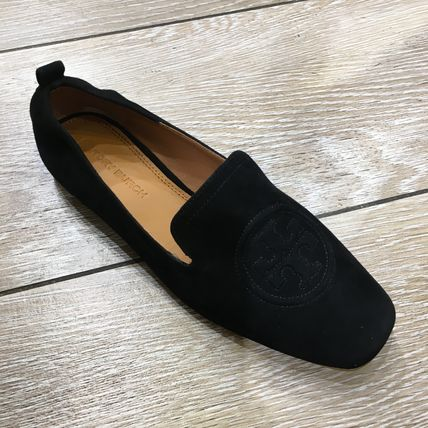 Tory Burch Casual Style Plain Leather Office Style Logo Flats