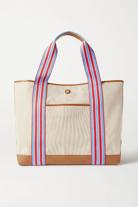 Casual Style Unisex Canvas A4 Plain Totes
