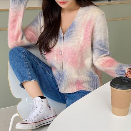Casual Style Street Style Tie-dye Long Sleeves Medium