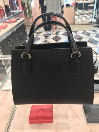 GUCCI Soho Crossbody Formal Style  2WAY Leather Office Style
