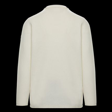 MONCLER Sweaters Crew Neck Wool Cashmere Plain Logos on the Sleeves Sweaters 3