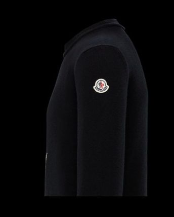 MONCLER Sweaters Crew Neck Wool Cashmere Plain Logos on the Sleeves Sweaters 7
