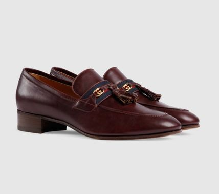 GUCCI Loafer With Web And InterlockingG