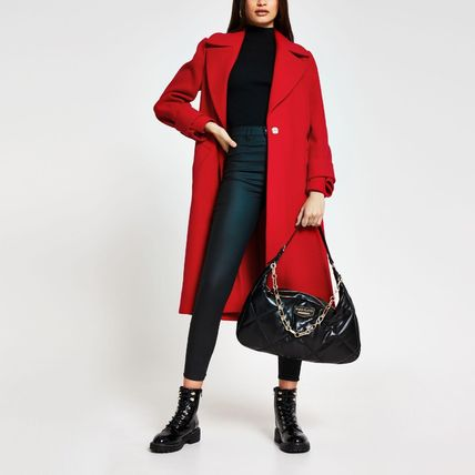 River Island Casual Style Plain Medium Party Style Office Style